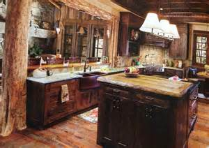log cabin kitchen log cabin kitchen pinterest