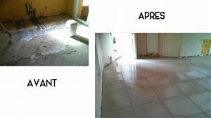 peinture sol carrele peindre carrelage salle de bain avant With peindre carrelage au sol