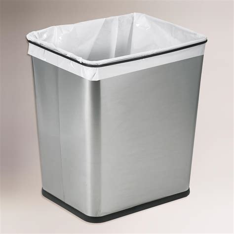 under sink garbage can track 7 gallon stainless steel under the sink trash can world