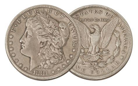 1881 Us Carson City Morgan Silver Dollar Coin Vf