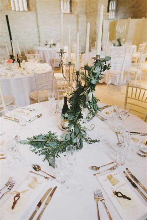 stylish meets rustic hand  winter wedding candelabra