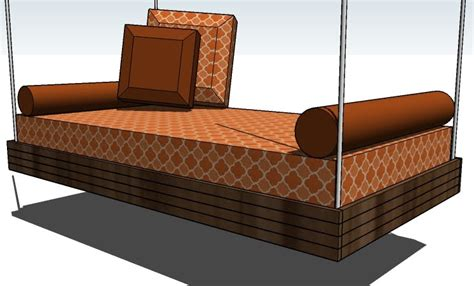 hanging bed plans ana white hanging outdoor bed diy projects