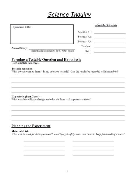 science inquiry worksheets glen s gizmos