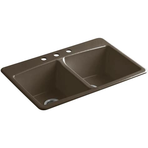 kohler brookfield kitchen sink kohler brookfield drop in cast iron 33 in 3 6680