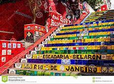 Escadaria Selaron In Rio De Janeiro Stock Photo Image