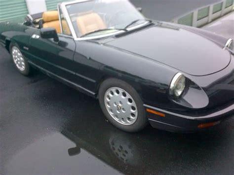 Sell Used 1993 Alfa Romeo Spider Veloce Convertible 2.0l