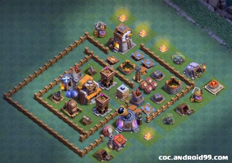 11 base terbaik aula tukang level 5 clash of clans basis