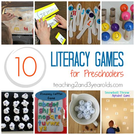 how to build preschool literacy skills with 146 | literacy games for preschoolers
