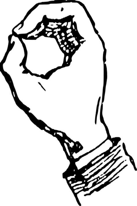 Deaf Alphabet O Clipart, vector clip art online, royalty free