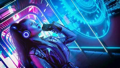 Synthwave Cyberpunk Retro Hacker Neon Synth Wallpapers