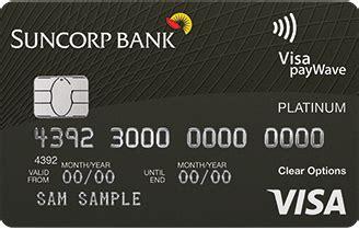 suncorp clear options platinum visa issued  citibank
