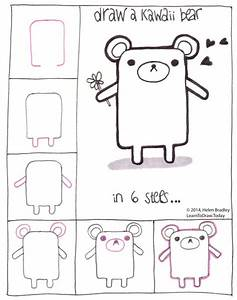 Draw a Kawaii teddy bear step by step | Drawing step by ...