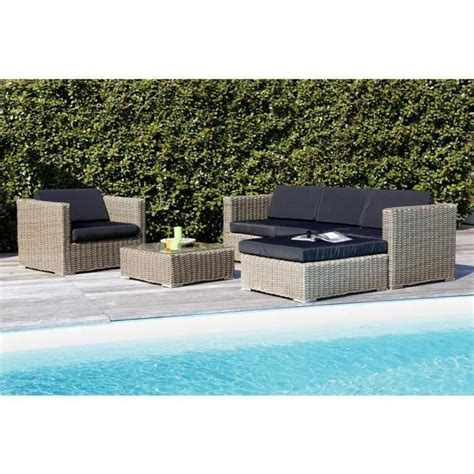 salon de jardin 5 places en r 233 sine alu marron gris achat vente salon de jardin salon de