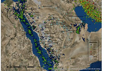 sea saudi arabia coast earthquake seismic west map earthquakes western region years figure extreme scirp