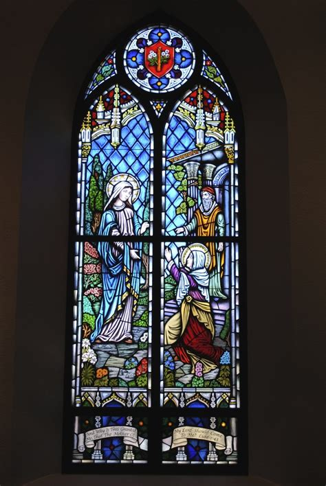 stained glass windows  lady  walsingham catholic