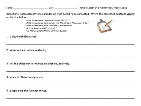 revising paragraphs worksheets 3rd grade 4th grade 5th