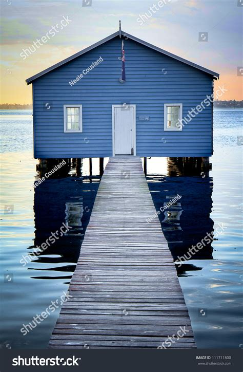 Boatshed In Perth by Boatshed On The Swan River Perth Stock Photo 111711800