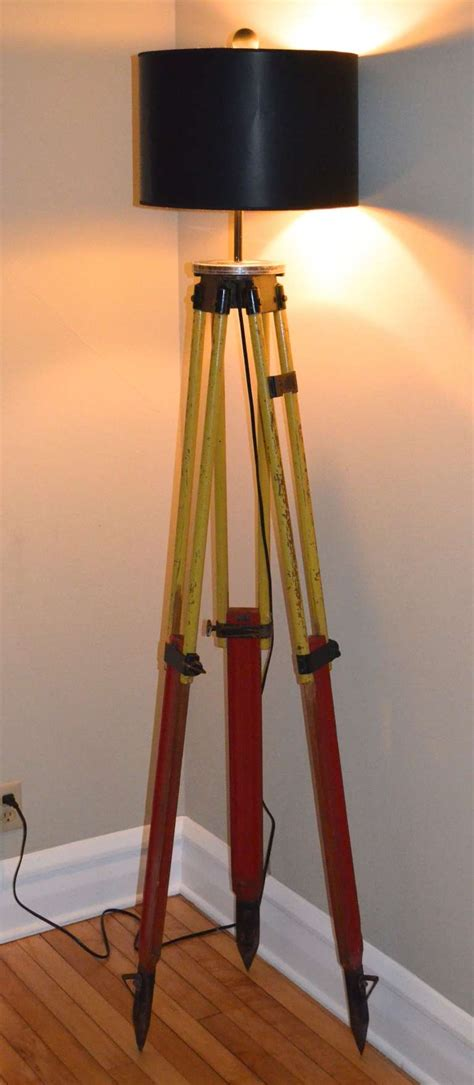 floor l made from a surveyor s tripod at 1stdibs