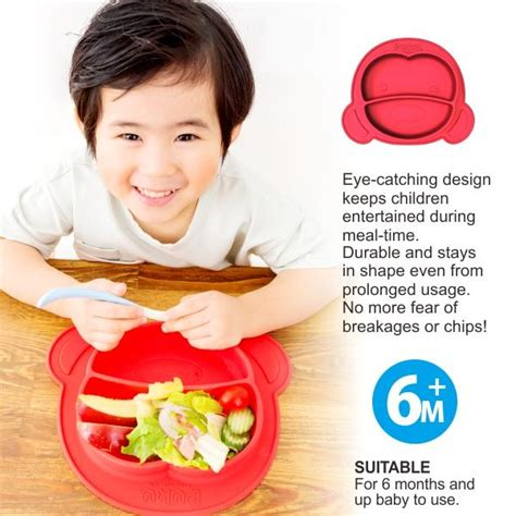 puku silicone suction plate with spoon and fork set