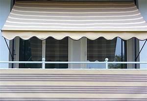 angerer freizeitmobel klemmmarkise beige braun With markise balkon mit tapete gestreift beige