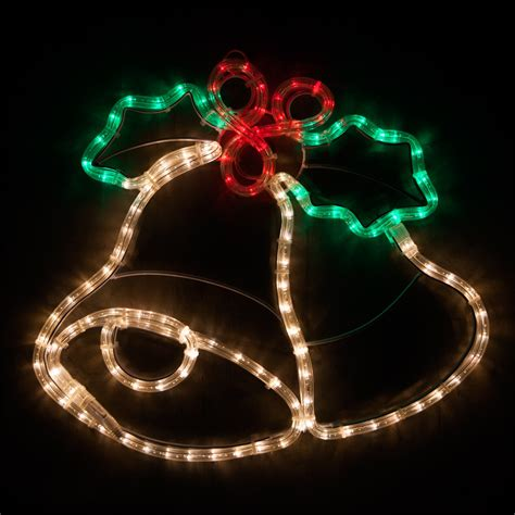 outdoor decoration  led christmas bells  holly