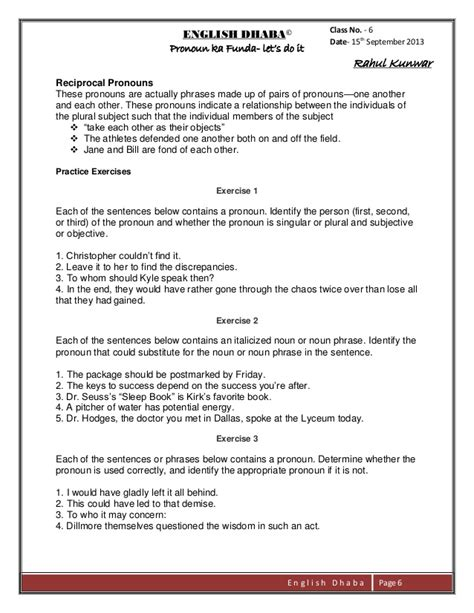 integrated grammar worksheets for class 10 grammar
