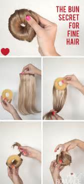 chignon tool hair tutorial how to bangs with bun top knot