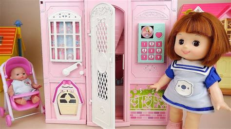 Baby Doll House Toys Two Story Floors Baby Doli Play