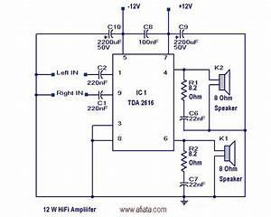 Qsc Power Amplifiers Tda2616 Circuit Diagram