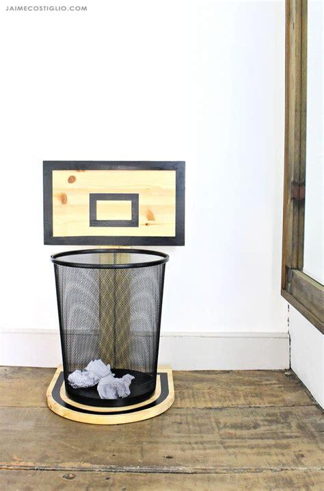 basketball hoop trash  wood projects reclaimed wood