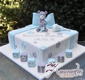 monkey boy baby shower square cake with teddy rattle cc89 amarantos baby