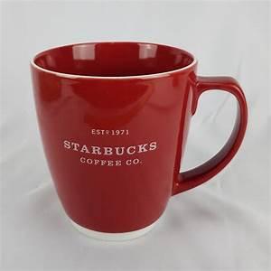 Starbucks, 2007, Large, Coffee, Mug, 18, Oz, Red, With, White, Trim