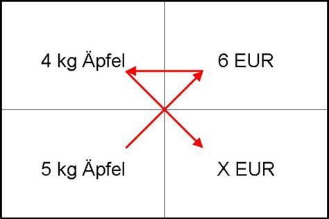 dreisatz rechnung prozentrechnen und dreisatz