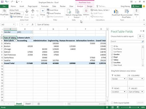 pivot table in excel 2016 how to create pivot tables manually in excel 2016 dummies