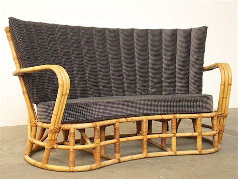 Bamboo Settee - vintage rattan bamboo sofa for sale at pamono