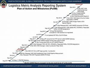 ppt logistics metric analysis reporting system plan of With plan of action and milestones template