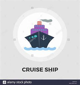 Cruise Ship Icon Vector. Flat icon isolated on the white ...