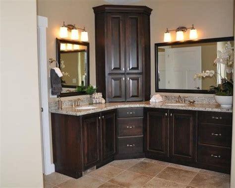 master bathroom vanity  corner cabinet upper