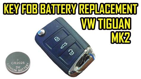 replace battery flip key fob vw tiguan  mk