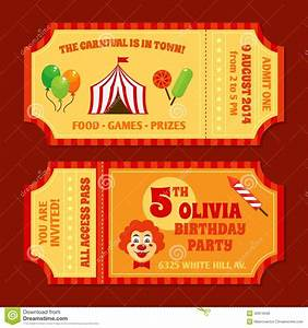 Circus Tickets Template Stock Vector - Image: 40974599