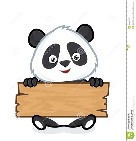 clipart foto panda holding a plank of wood stock vector image 48564752