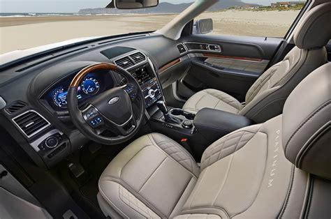 ford explorer interior 2016 ford explorer platinum test motor trend