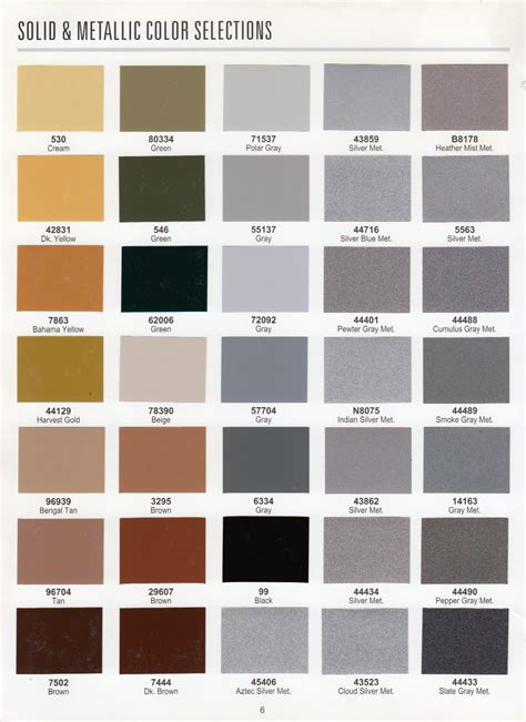 color choice options for your frame
