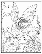 Coloring Pages Fantasy Adult Fairy Printable Advanced Books Grown Colouring Fairies Sheets Mermaid Sherimcclurepitler Flowers Exuberant Horse Rugrats Coloringages Flying sketch template
