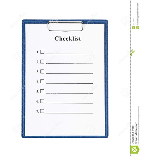 checklist and clipboard stock image image 28279481