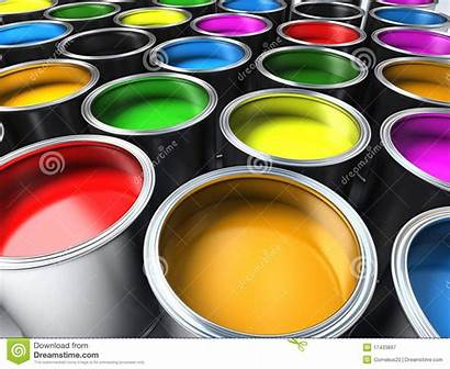 Paint Buckets Colors Different Royalty Background Dreamstime