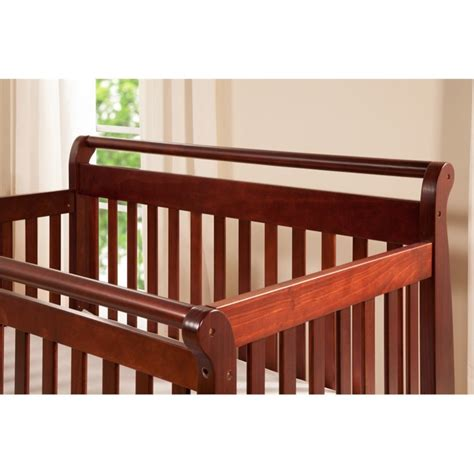 cherry wood crib davinci emily 4 in 1 convertible wood baby crib in cherry
