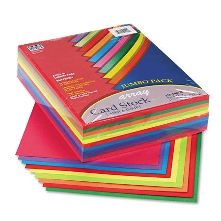 pacon array card stock  lb letter assorted lively