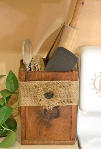 wooden utensil box    great holder