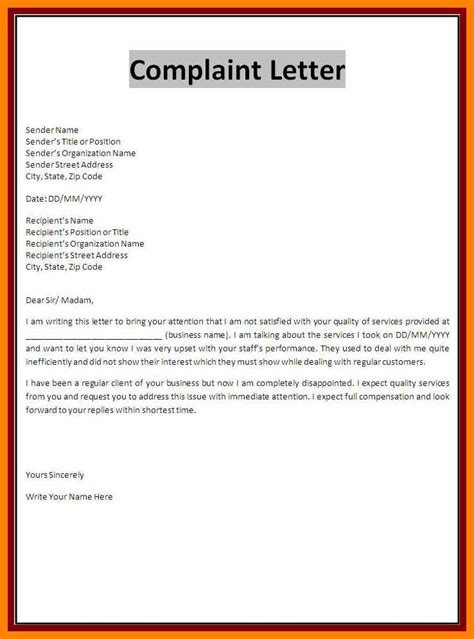 formal letter of complaint to employer template 7 exle complaint letter block style bike friendly